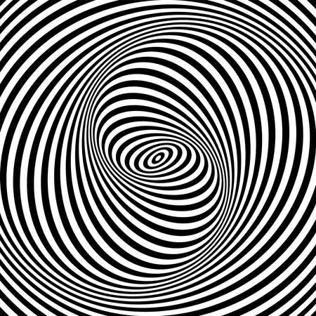 Abstract Illusion of swirl movement. Striped lines pattern.