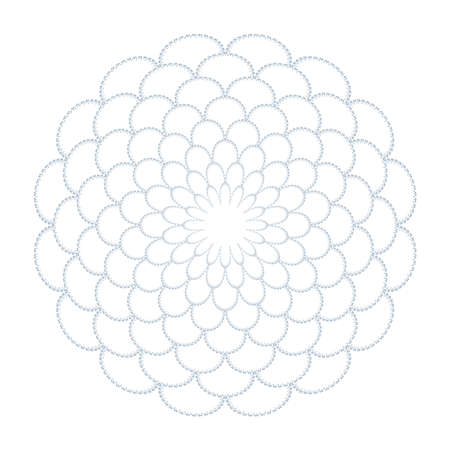 Abstract decorative floral circle pattern. Round design element. Vector art.