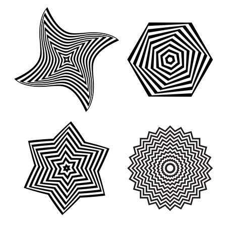 Set of abstract geometric elements for design. Vector art.