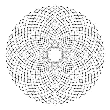 Abstract circle lacy net pattern. Vector art.