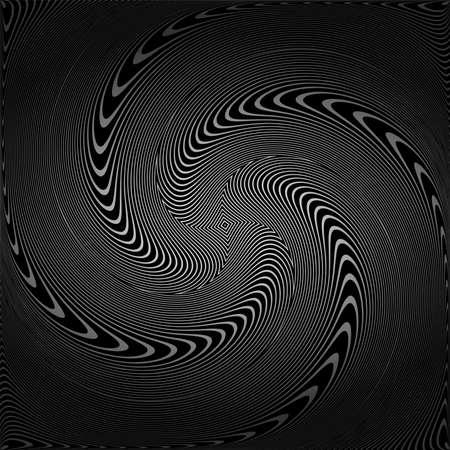 Abstract vortex circular movement illusion. Vector art. Vector Illustration