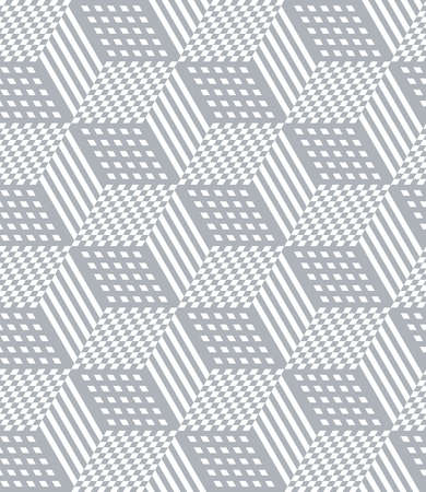 Seamless geometric pattern with 3D illusion effect. Op art vector illustration. 向量圖像