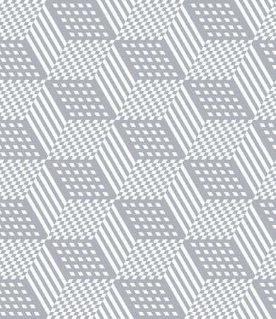 Seamless geometric pattern with 3D illusion effect. Op art vector illustration. Illustration