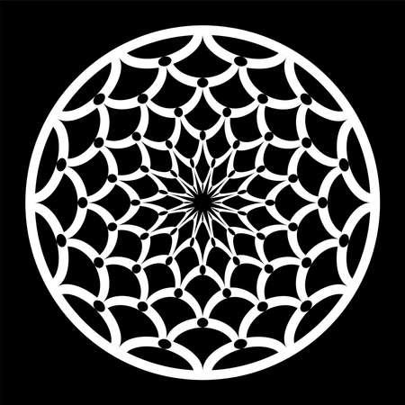 Abstract circle pattern. Decorative design element. Vector art.