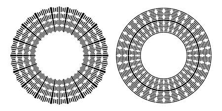 Circle geometric pattern for decorative round frame. Vector art. Illustration