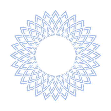 Abstract decorative circle blue pattern. Vector art. Illustration