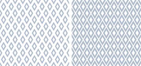 Abstract seamless geometric diamonds patterns. Vector art.