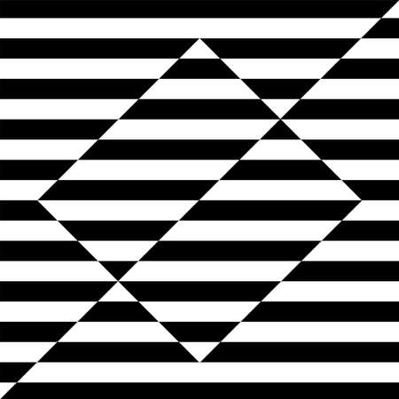Abstract geometric design. Striped lines pattern. Vector art.