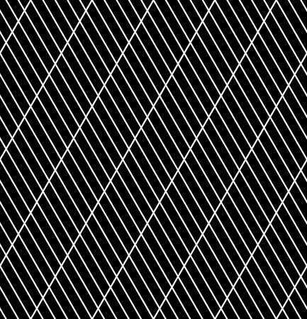 Abstract seamless diagonal striped lines black pattern and texture. Vector art.