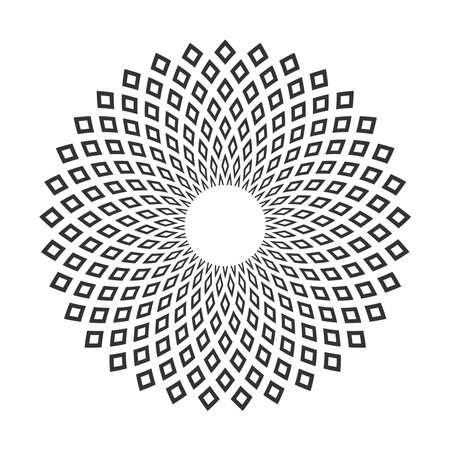 Circle geometric pattern. Abstract decorative design element. Vector art. Illustration