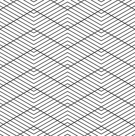 Abstract seamless geometric zig zag lines grid pattern and texture. Vector art.