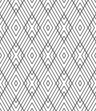 Abstract seamless geometric diamonds grid lattice pattern and texture. Vector art.