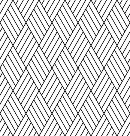 Abstract seamless geometric diamonds grid pattern and texture. Vector art.
