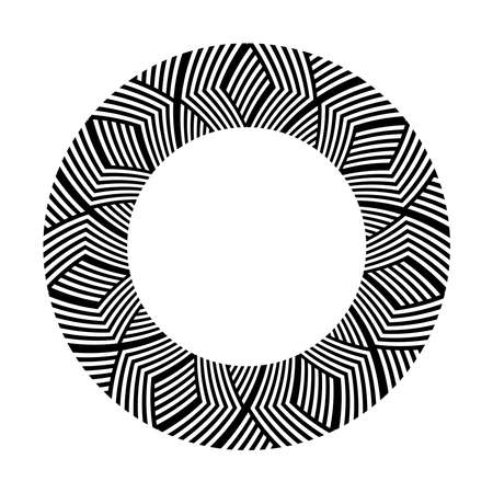 Abstract circle geometric design element. Vector art.