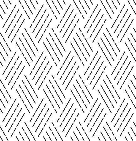 Abstract seamless geometric diagonal dash lines pattern and texture. Vector art. Illustration