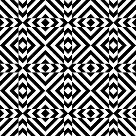 Abstract seamless geometric checked op art pattern and texture. Vector illustration.