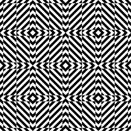 Abstract seamless geometric op art pattern and texture. Vector illustration.