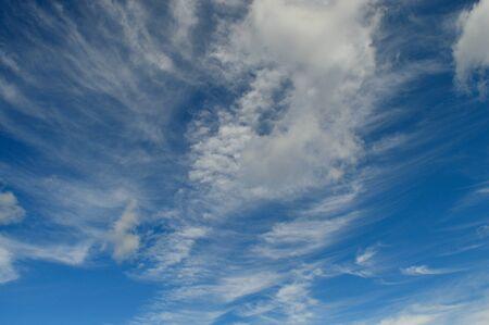 wispy: Wispy Clouds Stock Photo