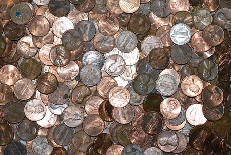 copper coin: Pile of Pennies