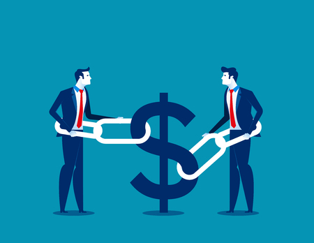 Business financial issues. Concept business finance vector illustration.  イラスト・ベクター素材