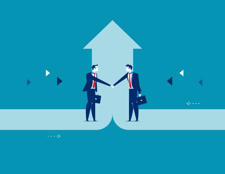 Affare di affari, illustrazione di vettore di successo di affari di concetto. Vettoriali