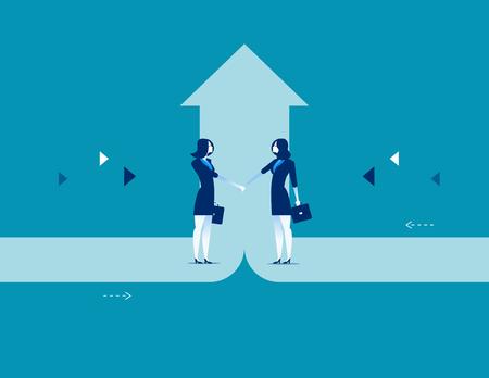 Business deal concept business success vector illustration. Stock Illustratie