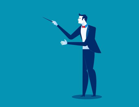Orchestra conductor. Concept conductor vector illustration.