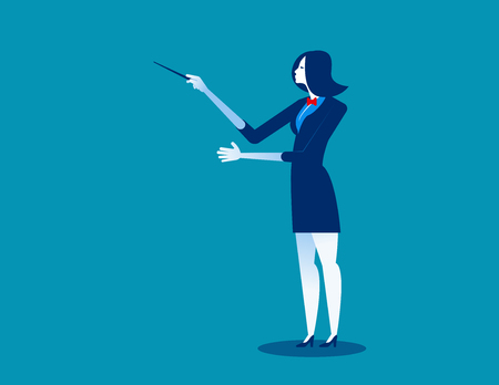 Orchestra conductor, concept conductor vector illustration.