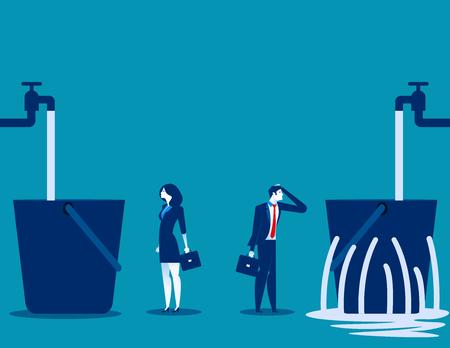 Kontrast zwischen Business Design-Konzept Vektorgrafik