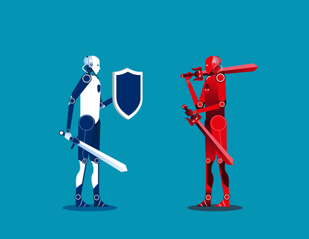 Cyber security. Concept cyborg security
