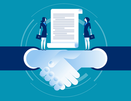 Agreement of business. Concept business vector illustration.