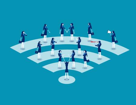 Communication. Business people communication. Concept business vector illustration. Vektorové ilustrace