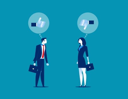 Business person for like and dislike. Concept business vector illustration.