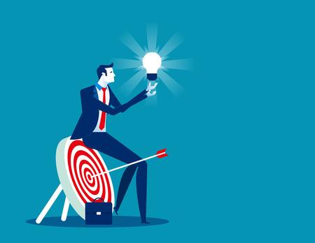 Businessman focused on success. Concept business vector illustration.