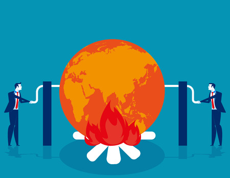Global warming. Concept business vector illustration.