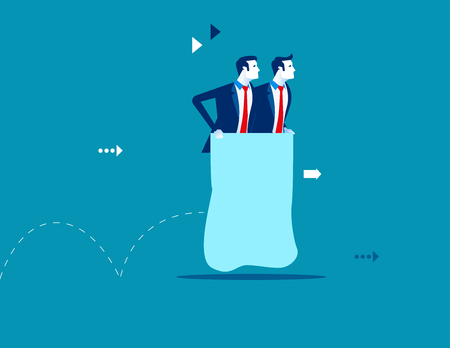 Business partners sack race. Concept business vector illustration.