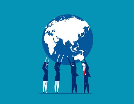 Global Business. Concept business vector illustration.