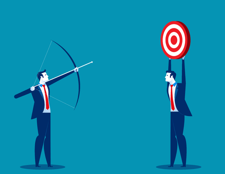 Business people and goal achievement for success. Concept business vector illustration. 일러스트
