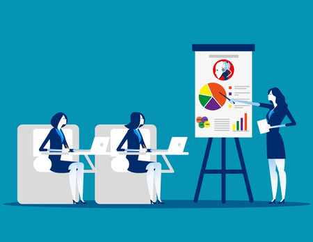 Meeting. Business team planning and working. Concept business vector illustration.