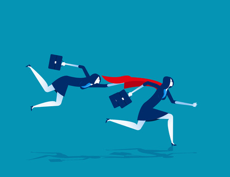 Super leader for business team. Concept business vector illustration. Flat character style.