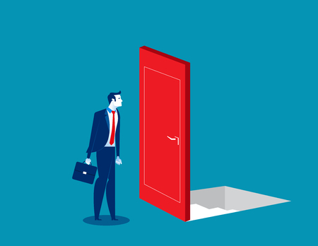 Business people with risky and uncertain options. Concept business vector illustration. Flat character style Reklamní fotografie - 123227404