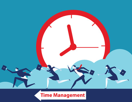 Business team and time management. Concept business vector illustration. 일러스트