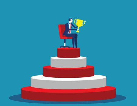 Award. Business leader stand out. Concept business  illustration. Flat design style.