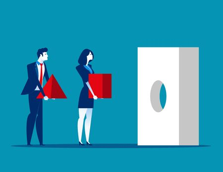 Business team and problem solving. Concept business vector illustration. Issue, Teamwork.