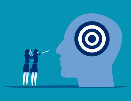 Business team and strategy marketing advertising, Concept business vector illustration, Communication, Target, Flat business cartoon, Analysis. Reklamní fotografie - 129985800