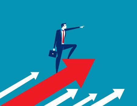 The Manager. Concept business vector illustration. Leadership, Successful, Achievement. Reklamní fotografie - 129985808