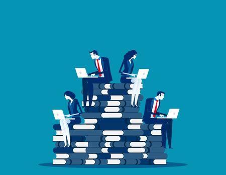 Business team planning and research marketing. Concept business vector, Strategy, Teamwork, Online marketing. Reklamní fotografie - 129985813