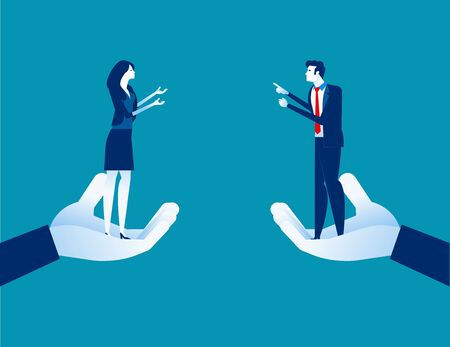 Business partner discussing. Concept business vector, Supporting, Hands, Agreement Illustration
