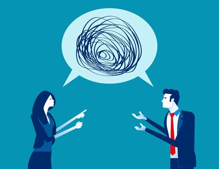 Business people talking nonsense speech. Concept business vector, Bubble speech, Meeting, Communication.