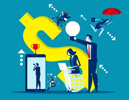 Business people working. Concept business vector, Office, Team, Strategy. Ilustrace
